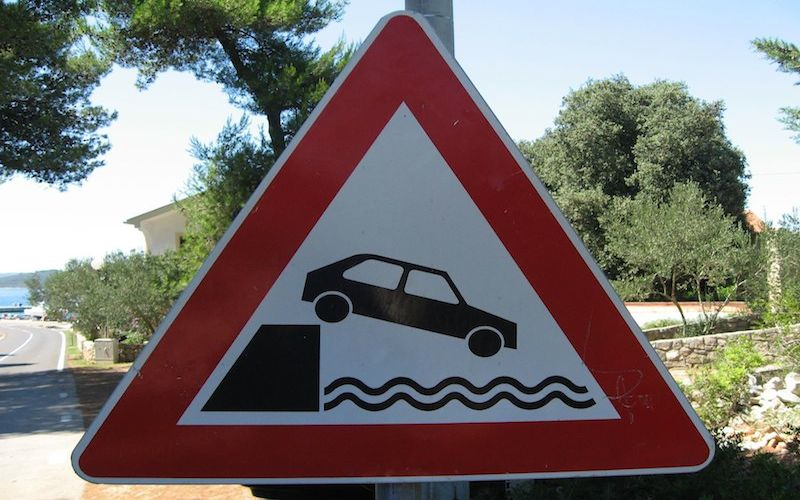 Danger! Sea ahead!