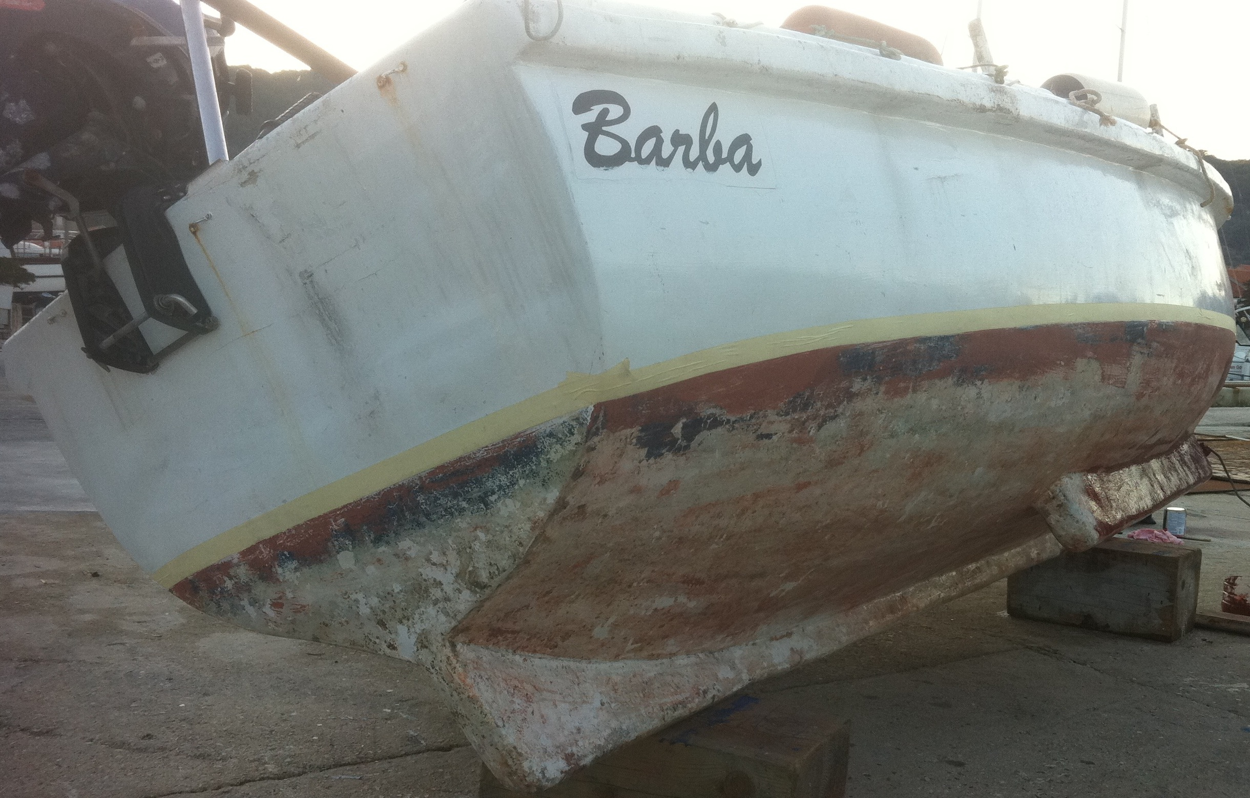 Kaic (small fishing boat) waiting for its coat of anti-fouling